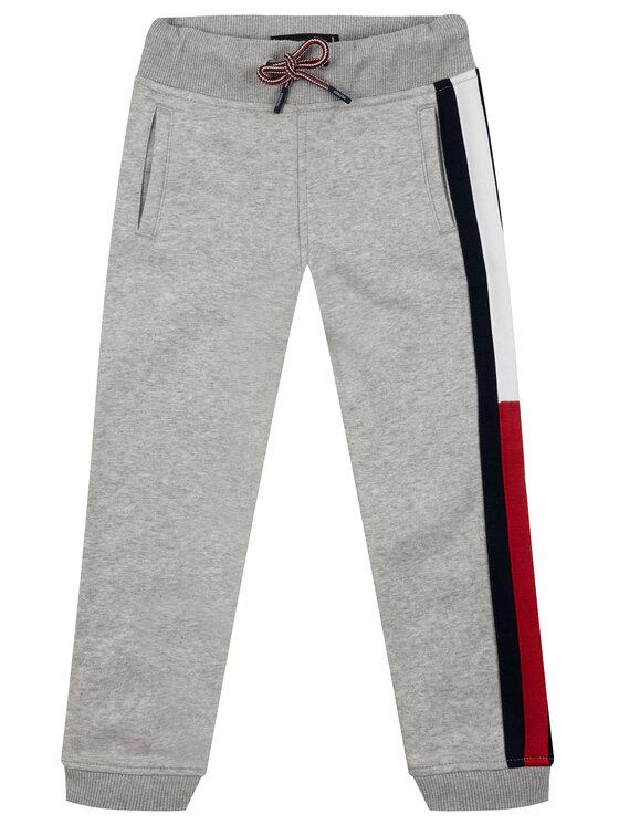 TOMMY HILFIGER TOMMY HILFIGER Долнище анцуг Essential Flag Pants KB0KB04957 S Сив Regular Fit