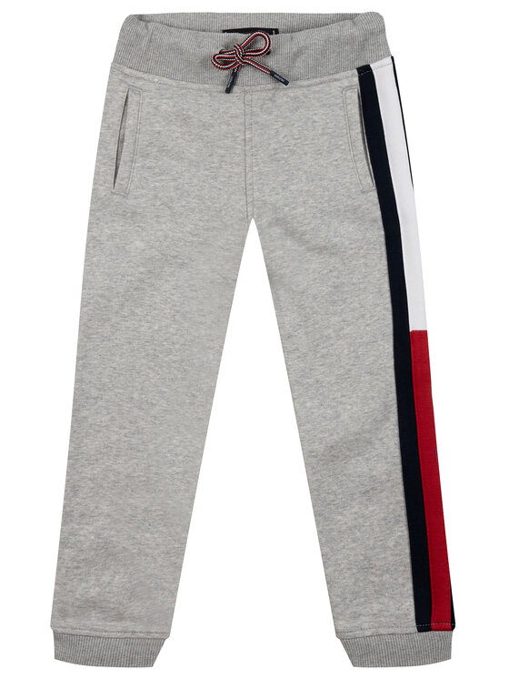 TOMMY HILFIGER TOMMY HILFIGER Teplákové nohavice Essential Flag Pants KB0KB04957 S Sivá Regular Fit