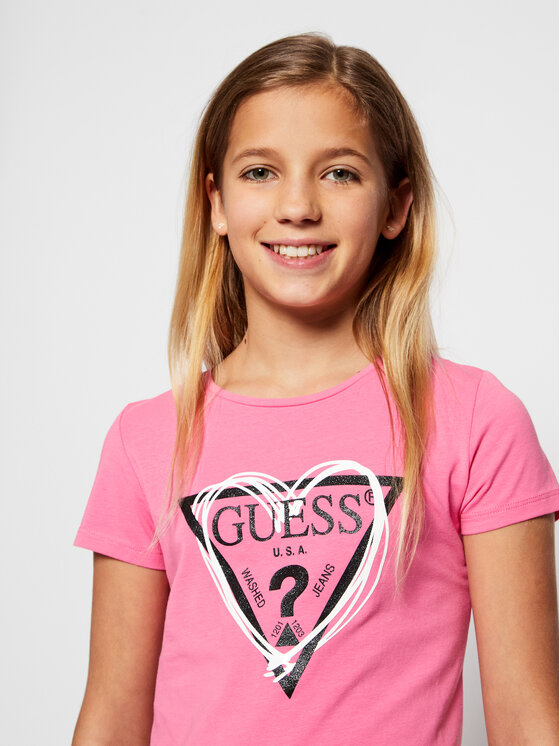 Guess Guess T-Shirt J1RI04 K6YW1 Różowy Regular Fit