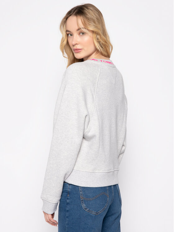 Tommy Jeans Tommy Jeans Суитшърт Tjw Branded DW0DW07554 Сив Relaxed Fit