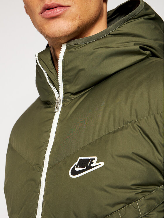 Nike Nike Kurtka puchowa NIKE-CU4404 Zielony Standard Fit