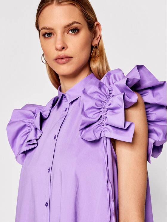 Imperial Imperial Rochie tip cămașă AA5TBBE Violet Regular Fit
