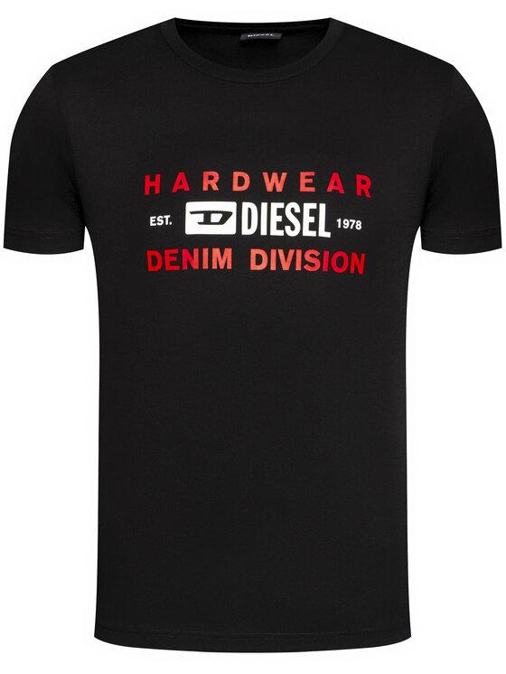 Diesel Diesel T-Shirt T-Diegos-K32 A00354 0AAXJ Czarny Regular Fit
