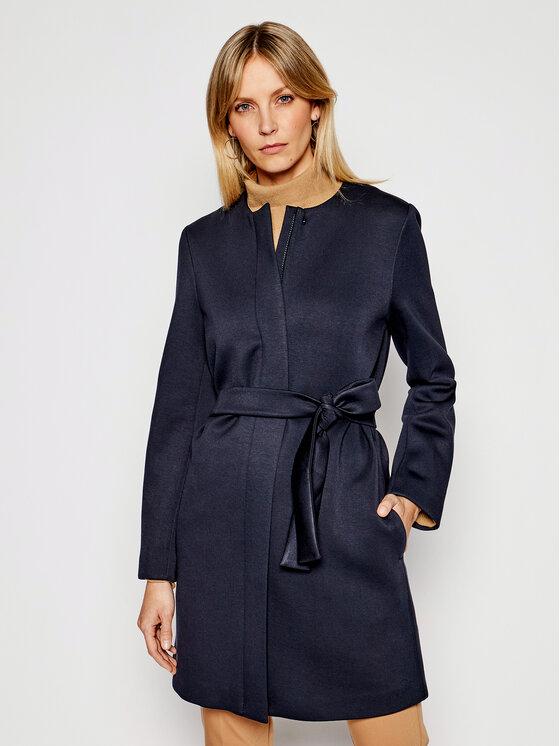 Weekend Max Mara Demisezoninis paltas Reed 59010317 Tamsiai mėlyna Straight Fit