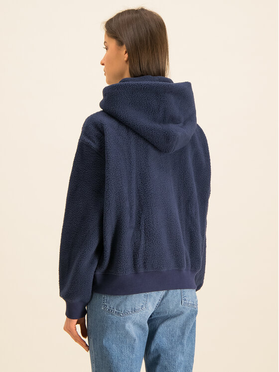 Tommy Jeans Tommy Jeans Суитшърт Tjw Tommy Polar DW0DW07806 Тъмносин Relaxed Fit