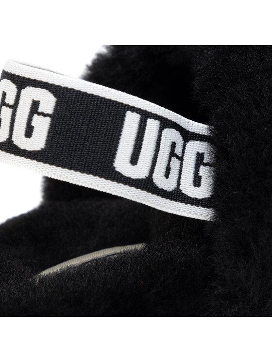 Ugg Ugg Bačkory T Fluff Yeah Slide 1098579T Černá