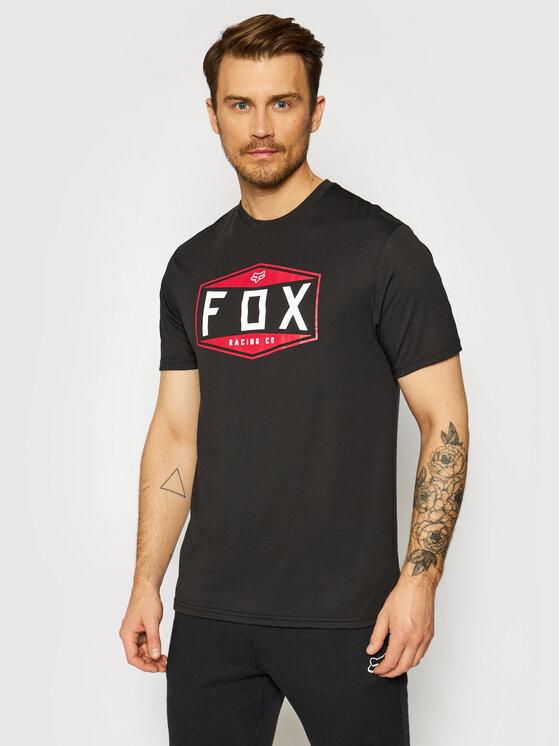 Fox Racing Marškinėliai Emblem 26972 Juoda Regular Fit