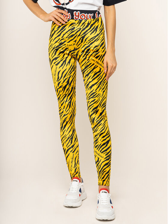LOVE MOSCHINO LOVE MOSCHINO Legginsy W151600E2100 Żółty Slim Fit