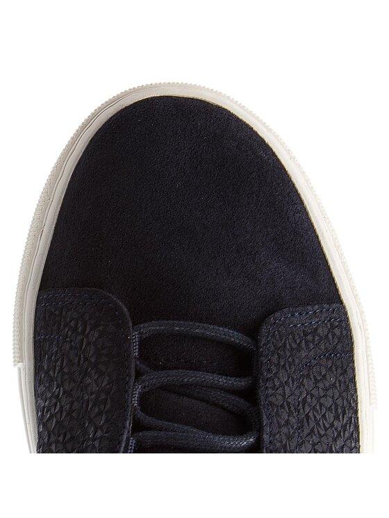 Tommy Hilfiger Tommy Hilfiger Sneakersy Fashion Suede Lace Up Cupsole FM0FM01816 Tmavomodrá
