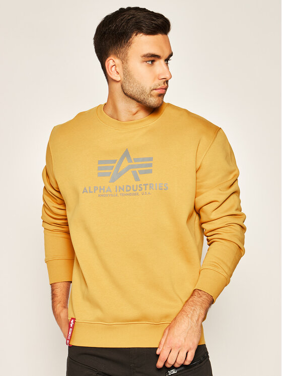 Alpha Industries Alpha Industries Μπλούζα Basic 178302 Κίτρινο Regular Fit
