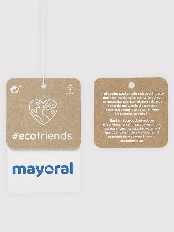 Mayoral Mayoral Bluzka 7094 Biały Regular Fit