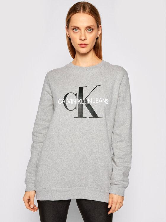 Calvin Klein Jeans Calvin Klein Jeans Mikina Core Monogram Logo J20J207877 Šedá Relaxed Fit