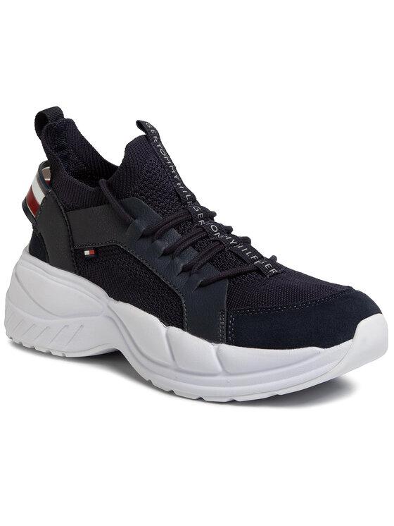 Tommy Hilfiger Tommy Hilfiger Sportcipő Chunky Knit Sneaker FM0FM02739 Sötétkék