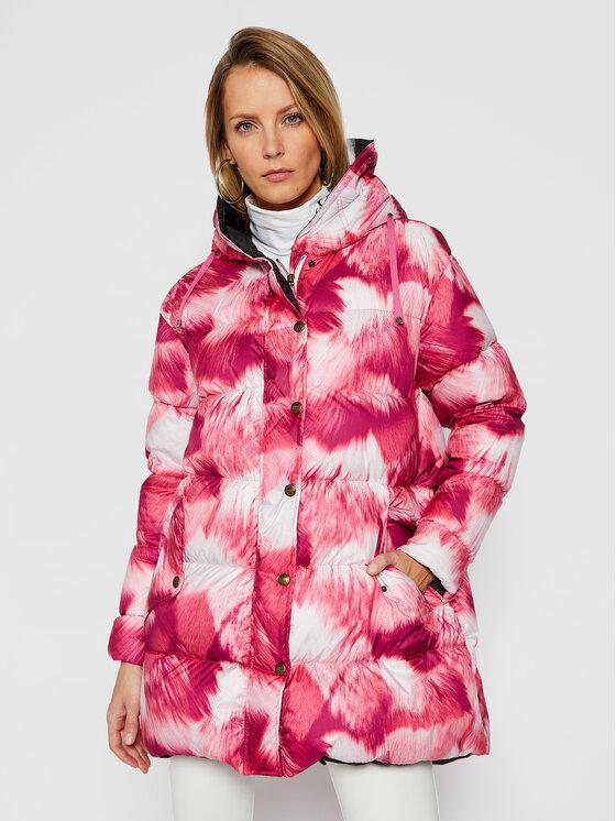 Mr & Mrs Italy Pūkinė striukė 192XDJ0117 Rožinė Regular Fit