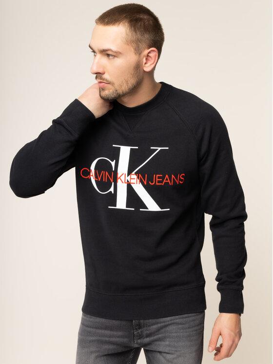 Calvin Klein Jeans Calvin Klein Jeans Džemperis Monogram J30J313222 Juoda Regular Fit