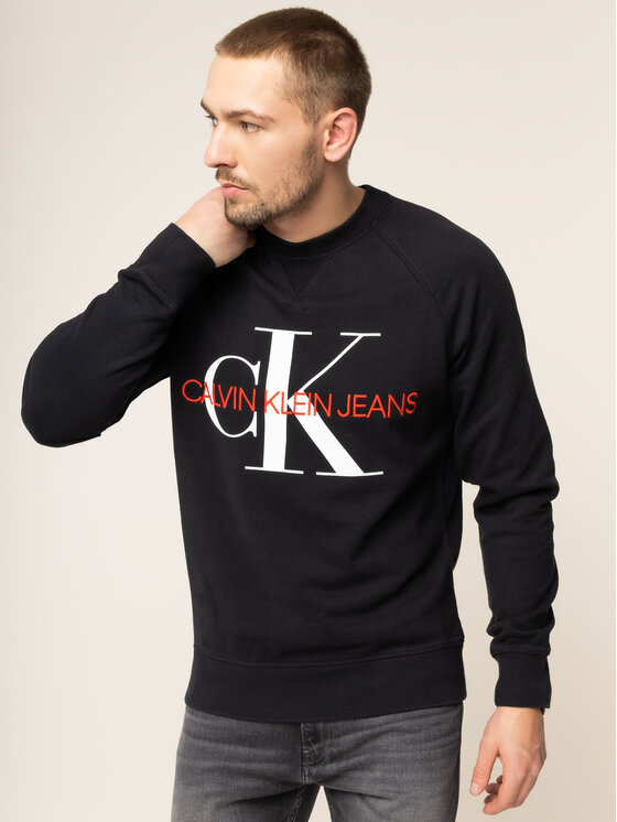 Calvin Klein Jeans Calvin Klein Jeans Μπλούζα Monogram J30J313222 Μαύρο Regular Fit