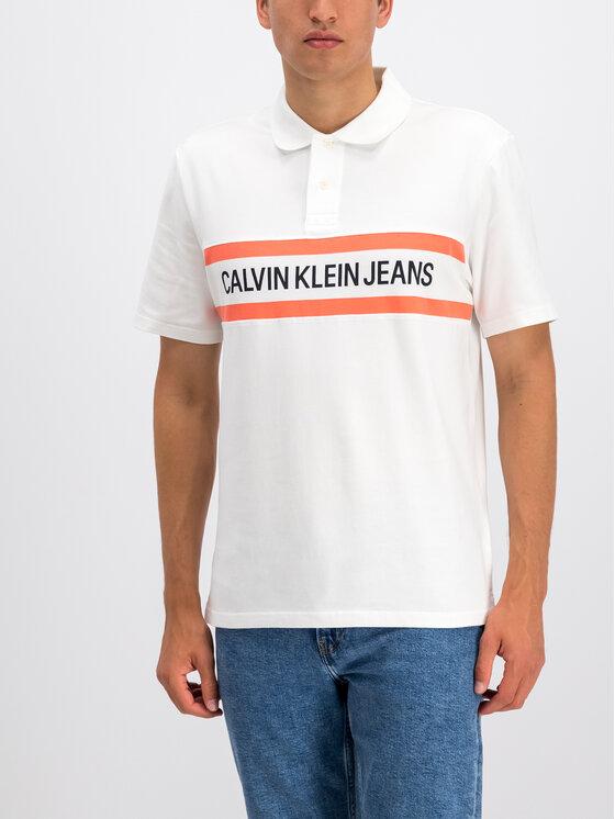Calvin Klein Jeans Calvin Klein Jeans Polo J30J312540 Biały Regular Fit