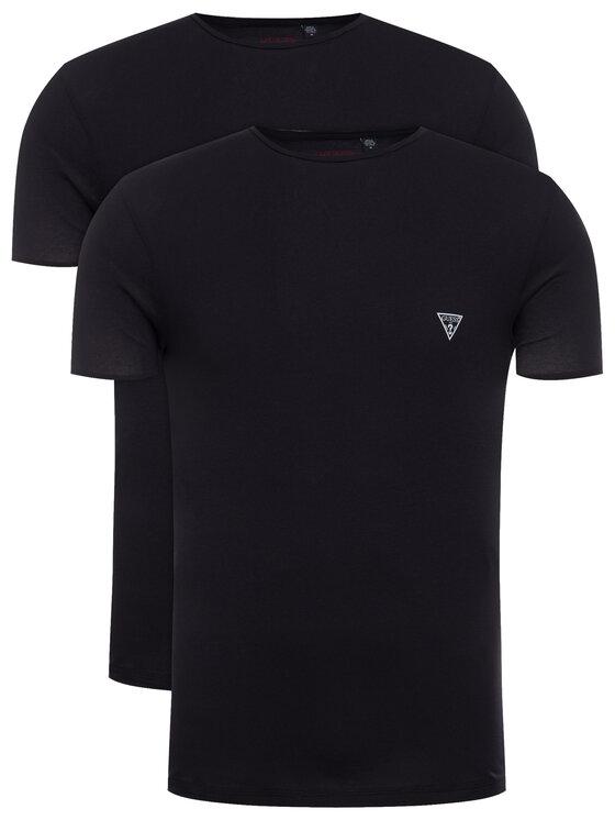 Guess 2 marškinėlių komplektas Hero U97G02 JR003 Juoda Slim Fit