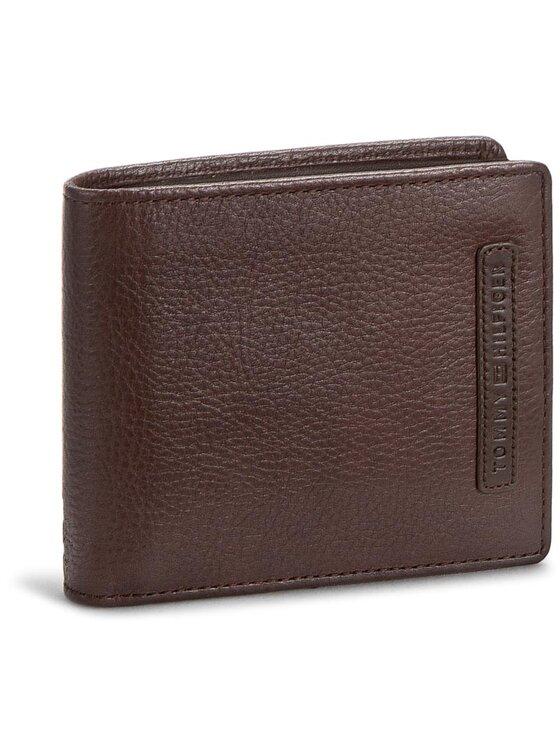 Tommy Hilfiger Tommy Hilfiger Duży Portfel Męski Casual Cc Flap And Coin Pocket AM0AM01273 Brązowy