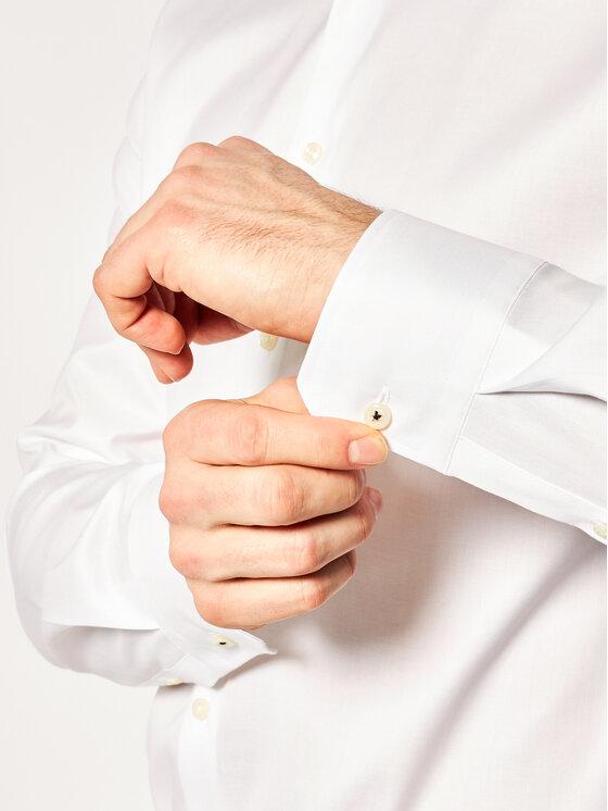 Joop! Joop! Koszula 17 JSH-04Panko 30011876 Biały Slim Fit