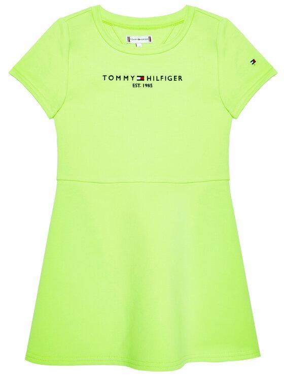 Tommy Hilfiger Tommy Hilfiger Sukienka codzienna Essential Skater KG0KG05789 D Zielony Regular Fit