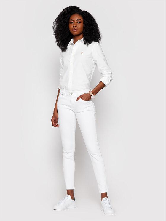 Polo Ralph Lauren Polo Ralph Lauren Koszula Washed Oxford 211743355 Biały Slim Fit