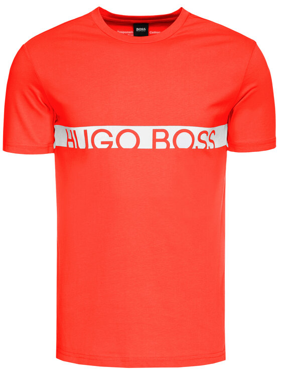 Boss Boss T-shirt 50407600 Rouge Slim Fit