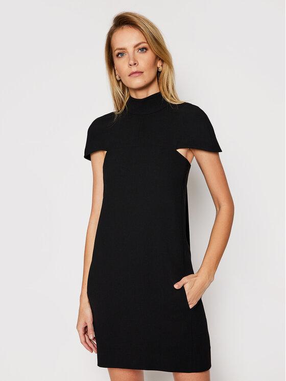 Victoria Victoria Beckham Kokteilinė suknelė Soft Crepe 2121WDR002184A Juoda Regular Fit