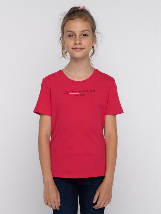 Tommy Hilfiger Tommy Hilfiger T-shirt KG0KG04466 D Rosa Regular Fit