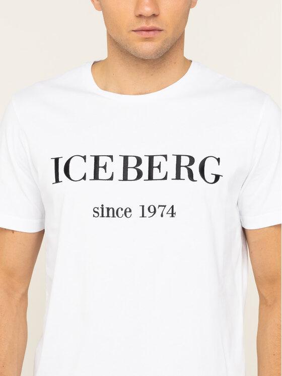 Iceberg Iceberg T-Shirt 20EI1P0F0146331 Biały Regular Fit