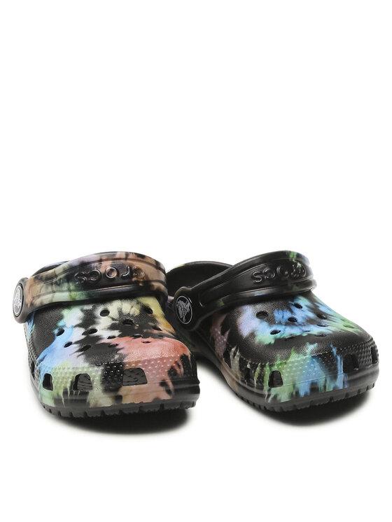 Crocs Crocs Klapki Classic Tie Dye Graphic Clog k 205451 Kolorowy