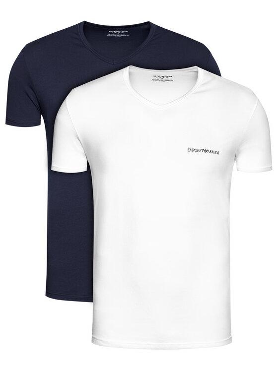 Emporio Armani Underwear 2 marškinėlių komplektas 111849 1P717 17135 Juoda Regular Fit