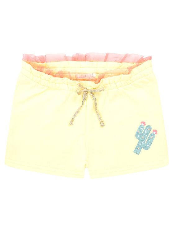 Billieblush Billieblush Szorty materiałowe U14371 Żółty Regular Fit