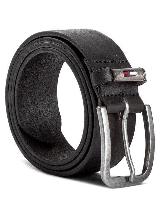TOMMY HILFIGER TOMMY HILFIGER Ζώνη Ανδρική Thd Metal Loop Flag Belt 4.0 AM0AM02978 Μαύρο
