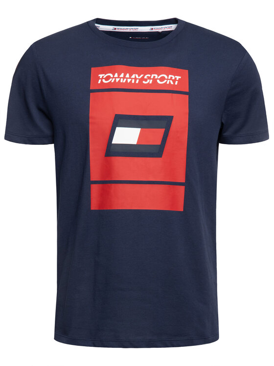 Tommy Sport Tommy Sport T-Shirt Graphic S20S200193 Σκούρο μπλε Regular Fit