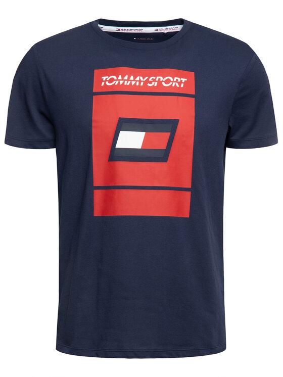 Tommy Sport Tommy Sport T-Shirt Graphic S20S200193 Tmavomodrá Regular Fit