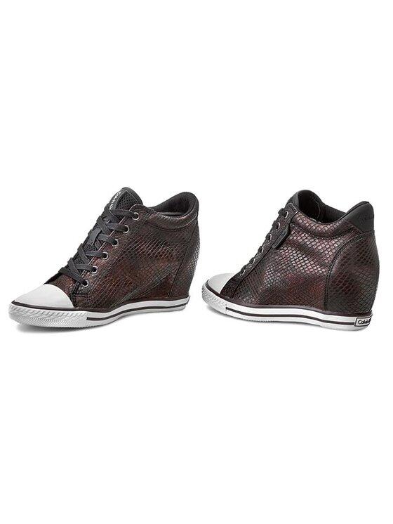 Calvin Klein Jeans Calvin Klein Jeans Sneakers aus Stoff Virginia Iridescent Python RE9343 Dunkelrot
