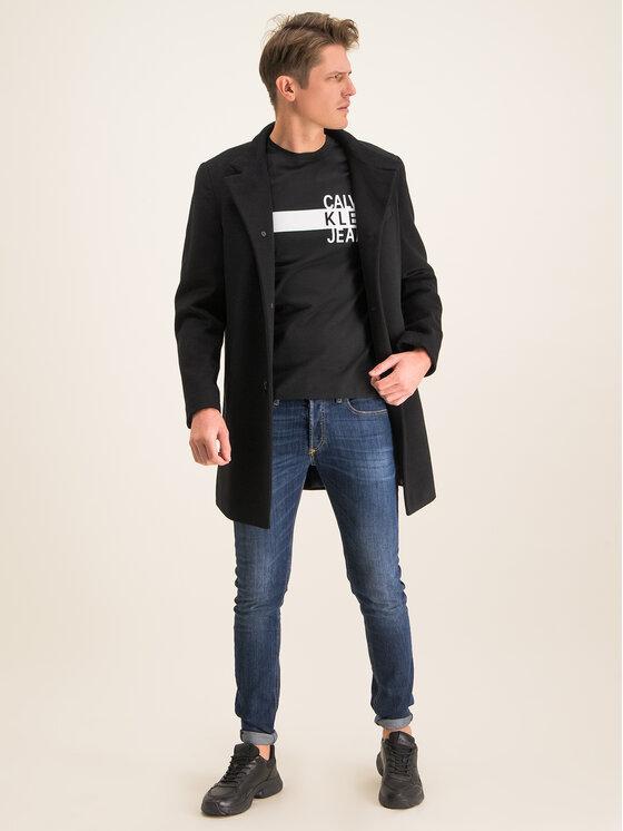 Calvin Klein Jeans Calvin Klein Jeans Marškinėliai Stacked Logo J30J314539 Juoda Regular Fit