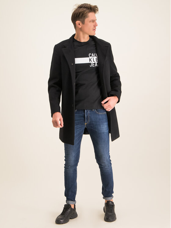 Calvin Klein Jeans Calvin Klein Jeans Póló Stacked Logo J30J314539 Fekete Regular Fit