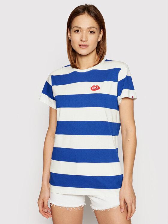 PLNY LALA Marškinėliai Kiss My PL-KO-CL-00211 Mėlyna Classic Fit