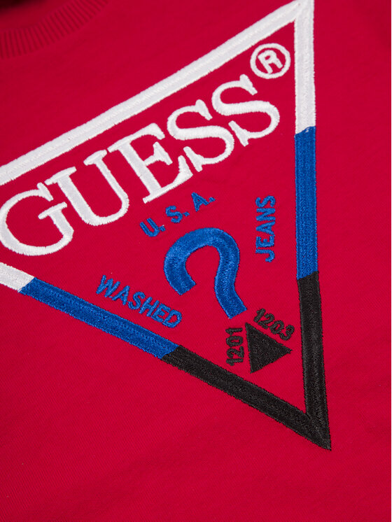 Guess Guess Marškinėliai N93I39 K82E0 Raudona Regular Fit