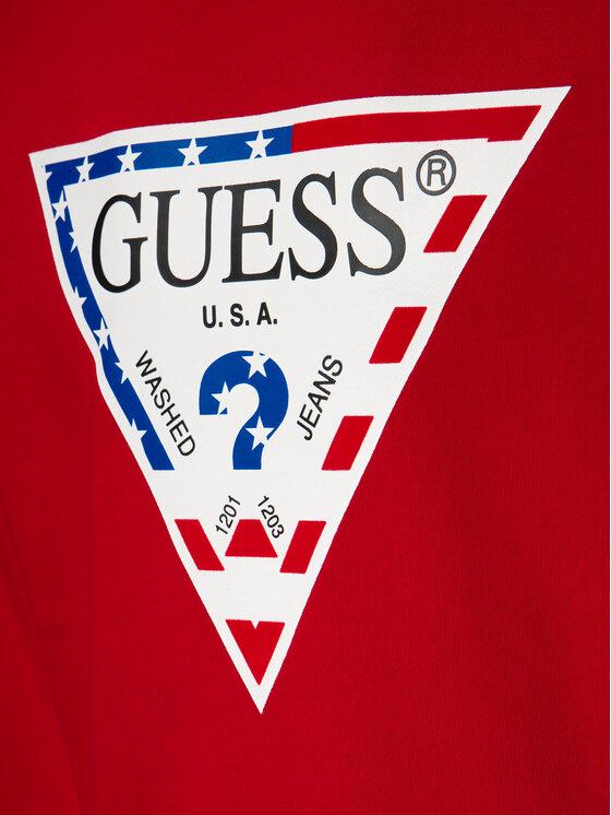 Guess Guess Mikina M93Q39 K8S70 Červená Regular Fit