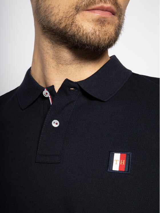 Tommy Hilfiger Tommy Hilfiger Polo marškinėliai Icon Mini Badge MW0MW13077 Tamsiai mėlyna Regular Fit
