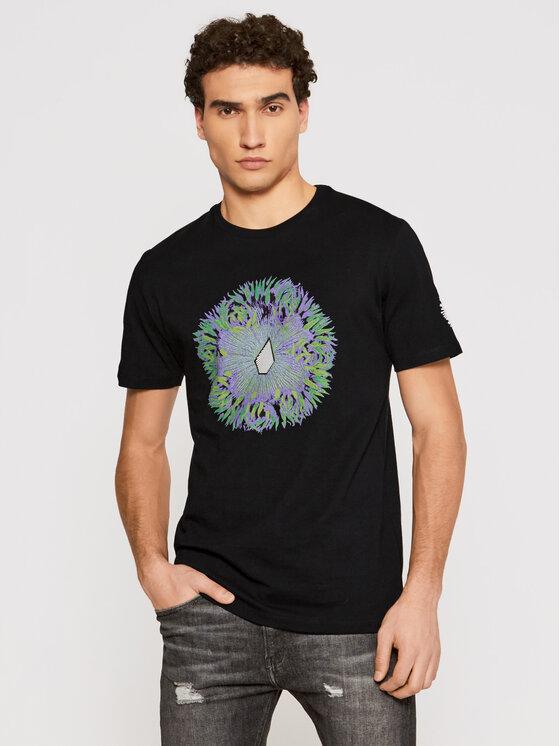 Volcom Marškinėliai Coral Morph A5212110 Juoda Regular Fit