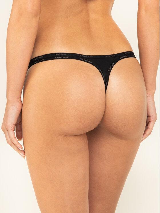 Calvin Klein Underwear Calvin Klein Underwear Kalhotky string Youthful Lingerie 000QF4529E Černá