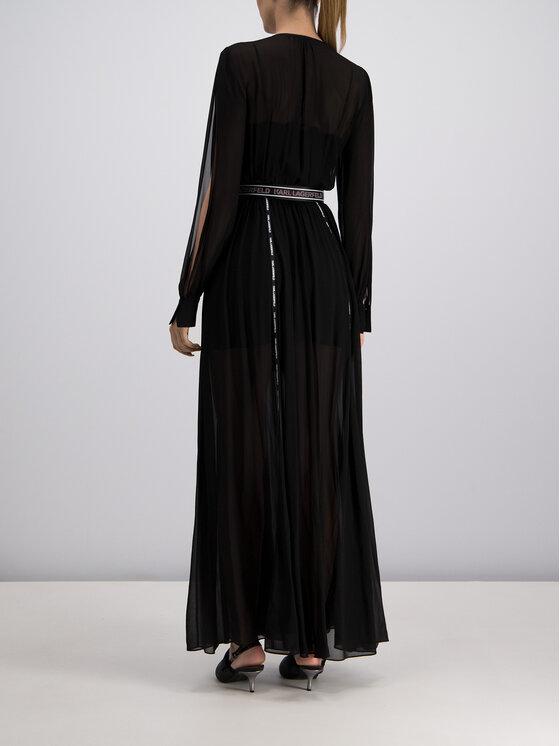 KARL LAGERFELD KARL LAGERFELD Sukienka wieczorowa 91KW1313 Czarny Regular Fit