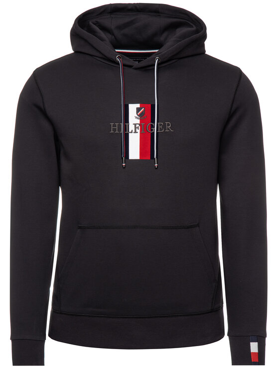Tommy Hilfiger Tommy Hilfiger Μπλούζα Luxury Artwork MW0MW11566 Μαύρο Regular Fit