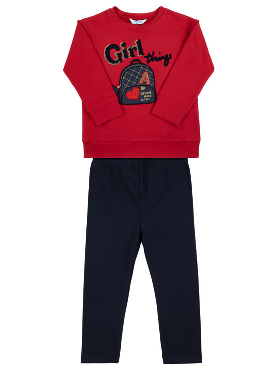 Mayoral Mayoral Set bluză și leggings 4715 Colorat Regular Fit