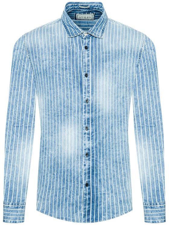 Guess Guess Camicia M02H50 D4041 Blu Regular Fit