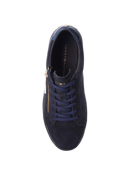 Tommy Hilfiger Tommy Hilfiger Sneakersy Zipper Dress Sneaker FW0FW03261 Tmavomodrá